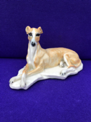 Eve Pearce Hand-Made Model - Whippet Fawn/White